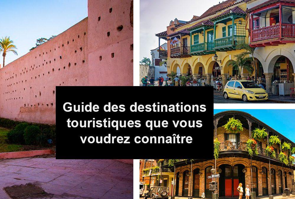 Guide des destinations touristiques