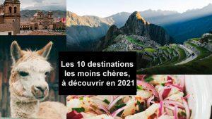 les 10 destinations